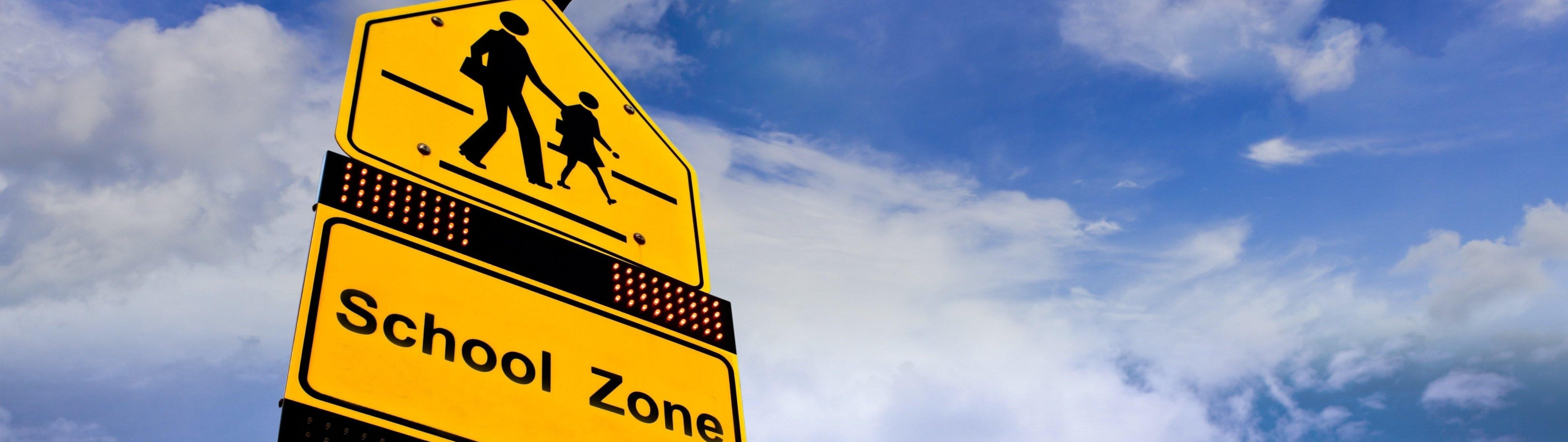 School Zone Safety Sign